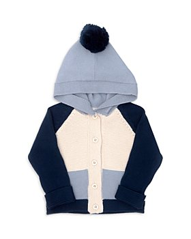 Tun Tun - Boys' Cotton Color Blocked Hooded Cardigan - Baby