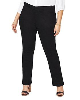 NYDJ Plus - Marilyn Pull On Straight Leg Jeans in Black