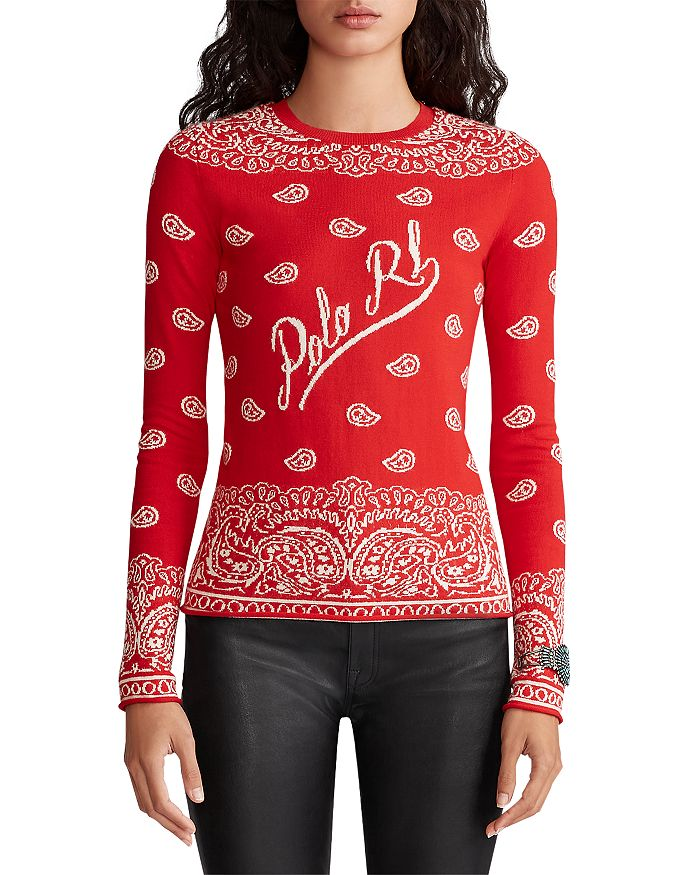 Ralph Lauren - Bandanna Crewneck Sweater