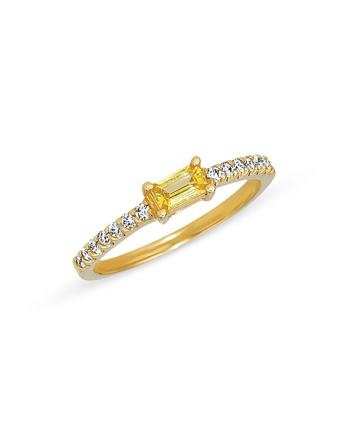 Bloomingdale's - Yellow Sapphire and Diamond Stack Ring in 14K Yellow Gold - 100% Exclusive