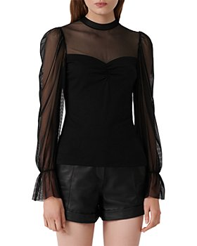 Maje - Tilda Mesh-Detail Top