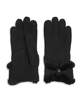UGG® - Sheepskin Shearling Turned Bow Gloves