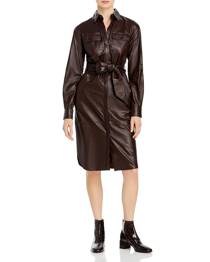 Ralph Lauren - Leather Shirt Dress