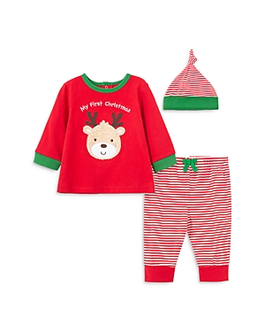 Little Me Unisex 3-Piece First Holiday Top, Jogger Pants & Hat Cotton Set - Baby-Kids