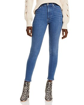 rag & bone - Nine High Rise Skinny Ankle Jeans in Deer Weed