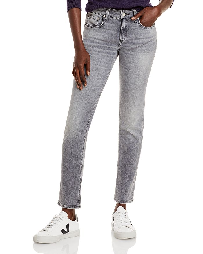 rag & bone - Dre Low Rise Slim Fit Boyfriend Jeans in Silver Stone