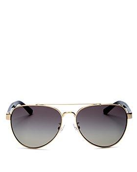 Tory Burch - Women's Brow Bar Aviator Sunglasses, 55mm