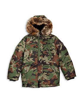 Ralph Lauren - Boys' Camo Hooded Down Parka - Little Kid, Big Kid