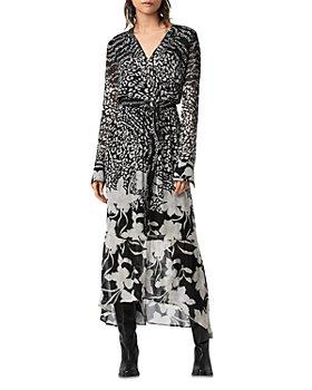 ALLSAINTS - Florence Tempo Floral Print Wrap Dress
