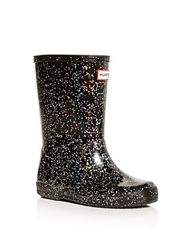 Hunter - Girls' Classic Giant Glitter Rain Boots - Walker, Toddler, Little Kid