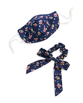 Free People - Floral Mask & Scrunchie Bow Set