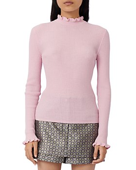 Maje - Maullya Ruffled Ribbed Sweater