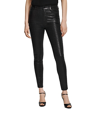 J Brand Leenah High Rise Skinny Ankle Jeans in Caiman-Women