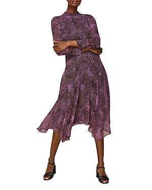 Whistles Carlotta Snake Print Dress-Women