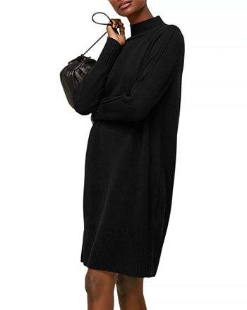 Whistles - Funnel Neck Wool Knit Dress