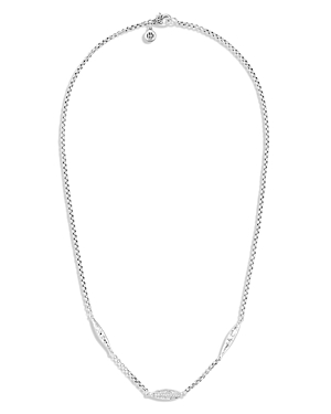 John Hardy Sterling Silver Classic Diamond Pave Spear Statement Necklace, 16-Jewelry & Accessories