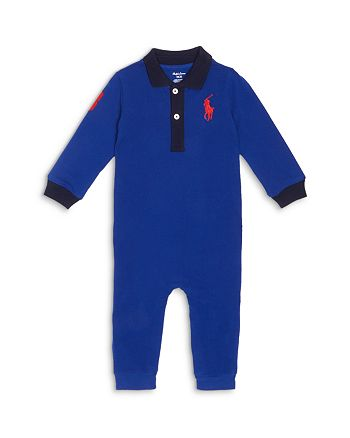 Ralph Lauren - Boys' Large Logo Polo Coverall - Baby