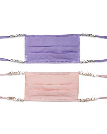 Stoney Clover Lane - Pearlized Bead Purple & Pink Face Masks, Set of 2