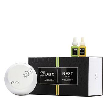 NEST Fragrances - Pura Smart Home Fragrance Diffuser Set with Bamboo & Grapefruit Refills
