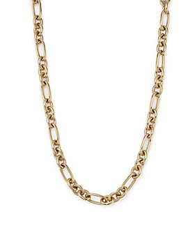 "Alberto Amati - 14K Yellow Gold Figaro Link Necklace, 18"" - 100% Exclusive"