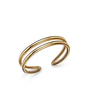 14K Yellow Gold Double Row Bangle Bracelet