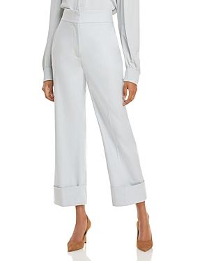 Alberta Ferretti High Waist Cropped Trousers-Women