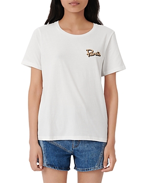 MAJE PARIS EMBROIDERED TEE