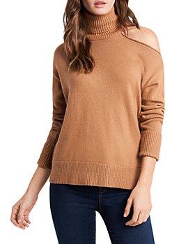 1.STATE - Cutout Shoulder Turtleneck Sweater