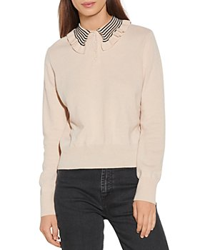 Sandro - Noemi Ruffled Collar Sweater