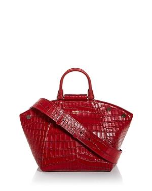 Max Mara Croc Embossed Crossbody-Handbags