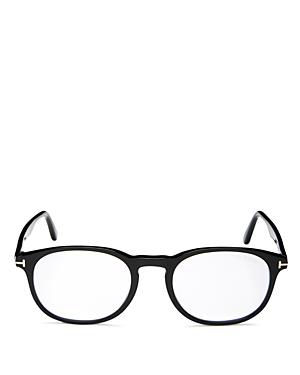 Tom Ford Men's Square Blue Light Glasses, 51mm