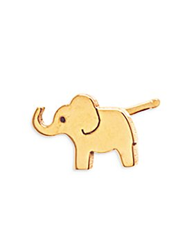 Zoë Chicco - 14K Yellow Gold Itty Bitty Elephant Single Stud Earring