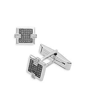 Bloomingdale's - Black & White Diamond Cufflinks in 14K White Gold - 100% Exclusive