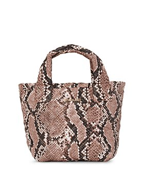 MZ WALLACE - Brown Snake Print Mini Metro Tote Deluxe