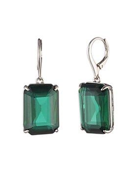 Ralph Lauren - Blue Stone Drop Earrings in Silver Tone