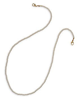 AQUA - Imitation Pearl Face Mask Chain in Gold Tone - 100% Exclusive