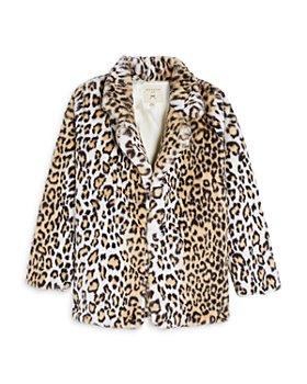 Hayden Los Angeles - Girls' Faux Fur Leopard Jacket - Big Kid