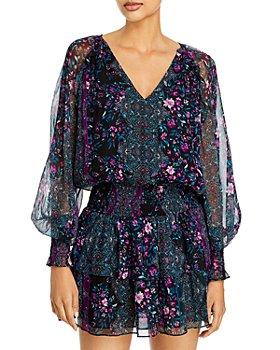 Ramy Brook - Logan Printed Silk Mini Dress