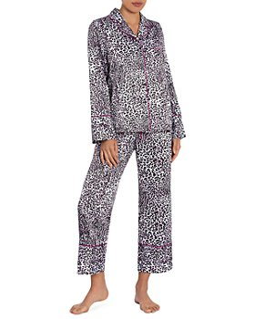 In Bloom by Jonquil - Leopard Print Satin Cropped Pajama Pants Set