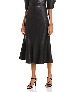 Rebecca Taylor - Faux Leather Midi Skirt