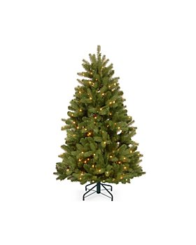 National Tree Company - 5 ft. Feel Real Newberry  Spruce Hinged Tree with 500 Dual Color Lights