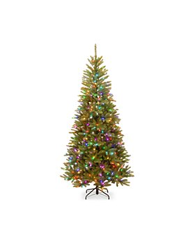 National Tree Company - 7.5 ft. Feel Real Dunhill Fir Mixed Slim Tree with 450 Light Parade