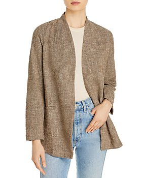 Eileen Fisher - Tweed Open Front Jacket