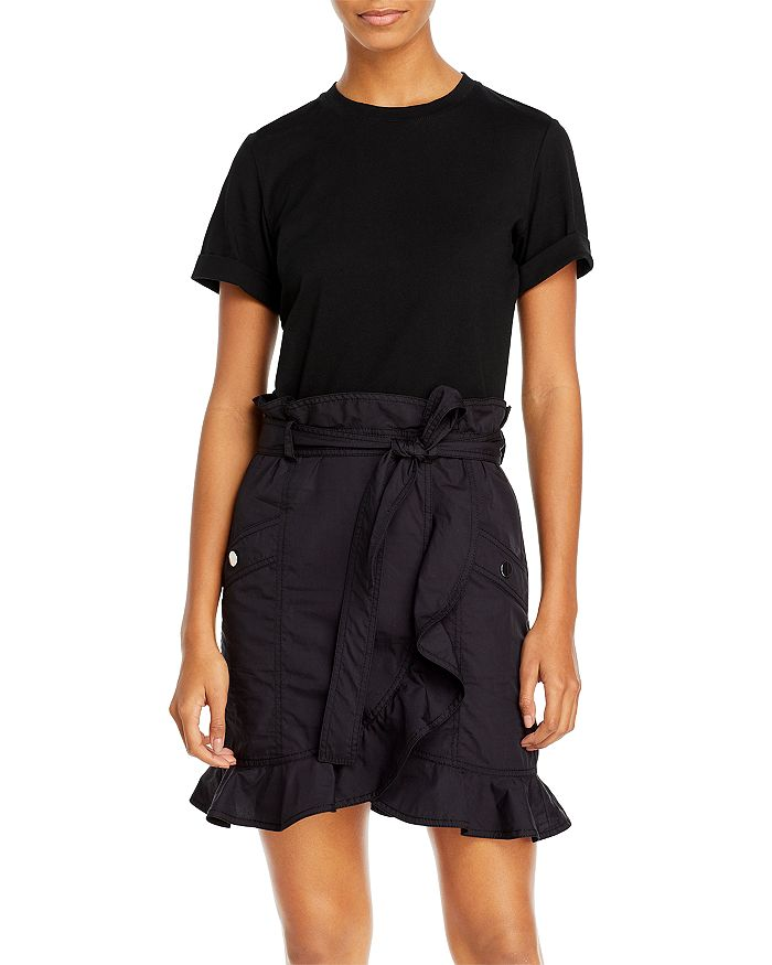 Derek Lam 10 Crosby HUDSON MIXED MEDIA T-SHIRT DRESS