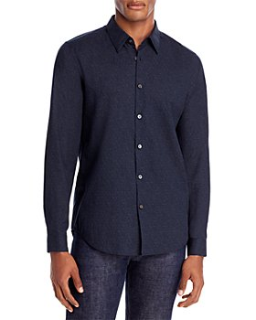 Theory - Irving Flanella Text Slim Fit Button-Down Shirt