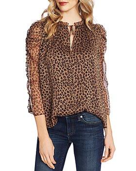 CeCe - Leopard Print Ruffled Top