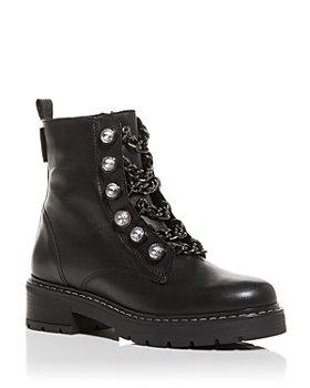 KURT GEIGER LONDON - Women's Bax Block Heel Combat Boots