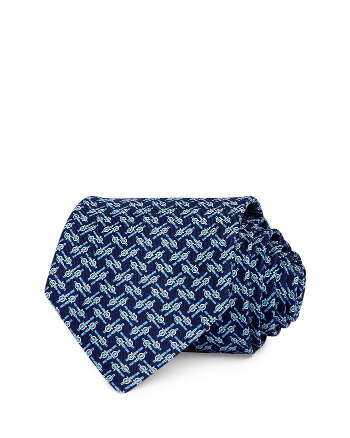 Salvatore Ferragamo - Buckles & Gancini Silk Classic Necktie