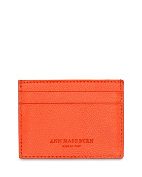 Ann Mashburn - Orange Leather Cardholder