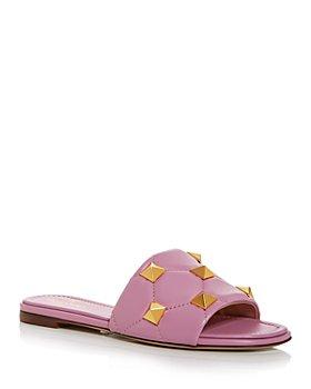 Valentino Garavani - Women's Roman Stud Quilted Slide Sandals